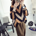 De DoveThe new wave of mixed colors coat sweater hedging thick winter sweater female Korean tidal loose College Wind