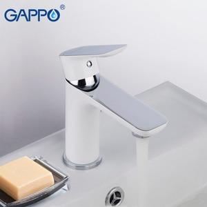 Image 5 - Gappo 流域水栓流域ミキサーシンクの蛇口浴室の水ミキサー白真鍮蛇口水蛇口デッキマウント torneira