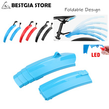 Promo offer New Folding Bike Bicycle Fenders Set Telescopic MTB Front Rear Mudguards Quick Release Mud Fender With Taillight Cycling Parts