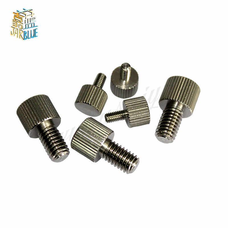 10 pces m2/m2.5/m3/m4 a2 304 parafusos de polegar simples tipo métrico serrilhado parafusos de cabeça