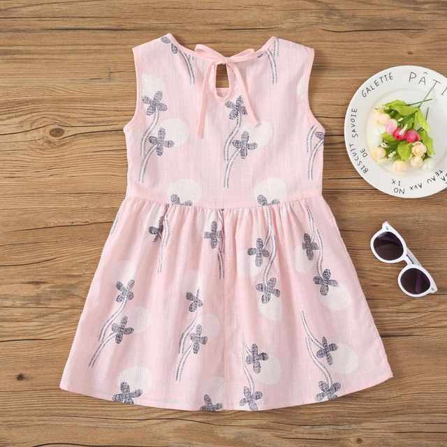 d22319f53158e Europe America new baby girls party dress summer beach toddler Pastoral  floral dress 100% cotton sleeveless kids clothes-in Dresses from Mother &  Kids ...