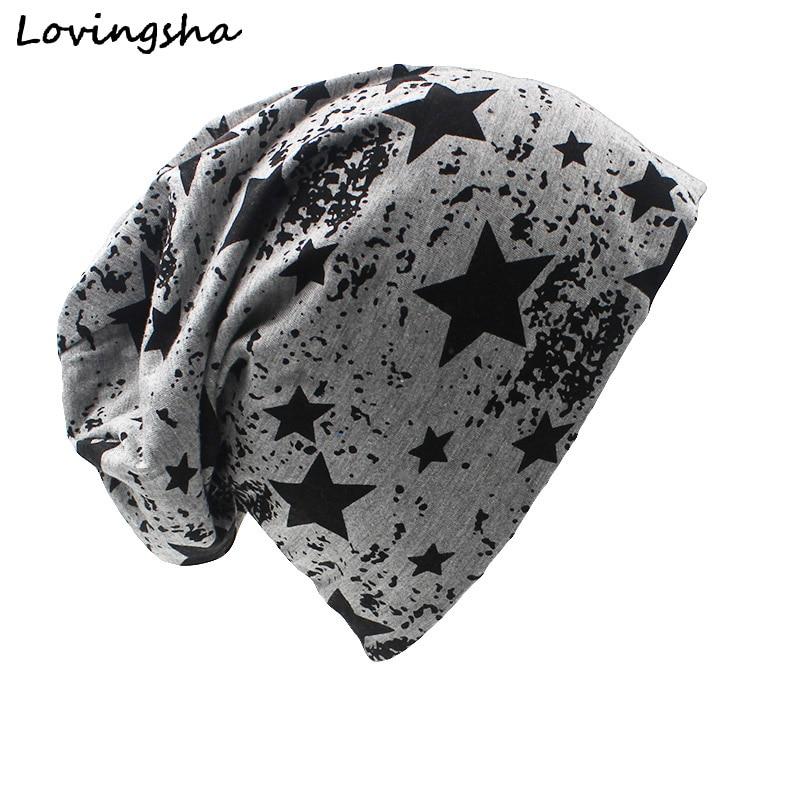 LOVINGSHA Brand Autumn And Winter Hats For Women Stars Design Ladies thin hat Skullies And Beanies Men Hat Unisex HT003