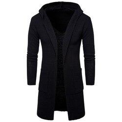 Maomaoleyenda de los hombres con capucha suéter tejido 2018 nueva llegada de invierno Jersey grueso y cálido abrigo de los hombres suéter de punto con capucha M-2XL