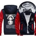 2016 Hot Moda Inverno Jaquetas e Casacos de Uma Peça Anime Luffy Grosso Com Capuz Zipper Homens Camisolas do hoodie