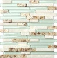 Glass Mosaic Glass Mix Shell Mosaic Kitchen Backplash Mosaic LSBK01