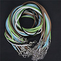 "AWAYTR 10Pcs/lot 20"" (52 cm) Mixed Colours Suede Leather Necklace Jewelry Findings Wholesale"
