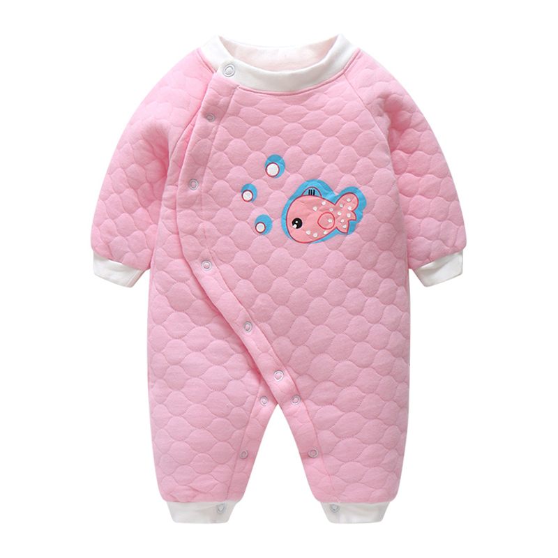 LCLL-baobaobest New Baby Boy Girl Romper Clothes Sun Shark Baby Clothing Winter Cotton jumpersuit