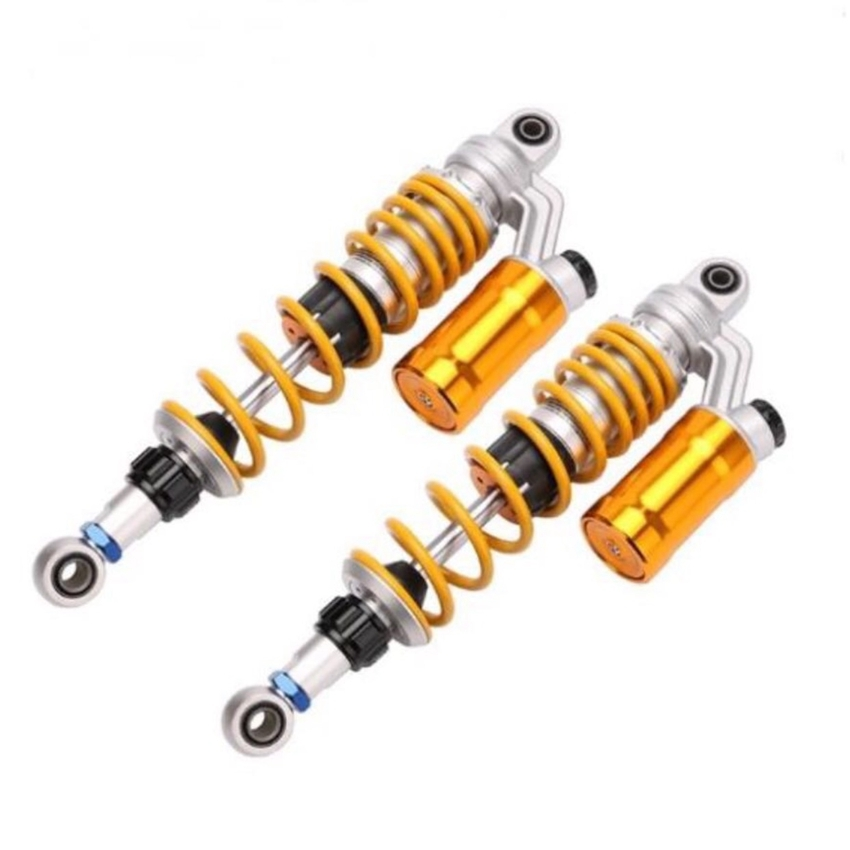 Universal 310mm/330mm/350mm Motorcycle Scooter Adjustable Spring Damping Shock Absorbers For Street Bike Dirt Bike GoKart forging double damping adjustable shock absorber damping nitrogen cylinder suitable for motorcycle modification