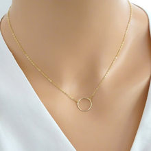 Women's Fashion Minimalist Simple Circle Pendants Chains Necklace ND302(China)