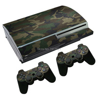 OSTSTICKER New Camouflage Vinyl Decal For PS3 Fat For Sony PlayStation 3 Console and 2 Controllers Decal