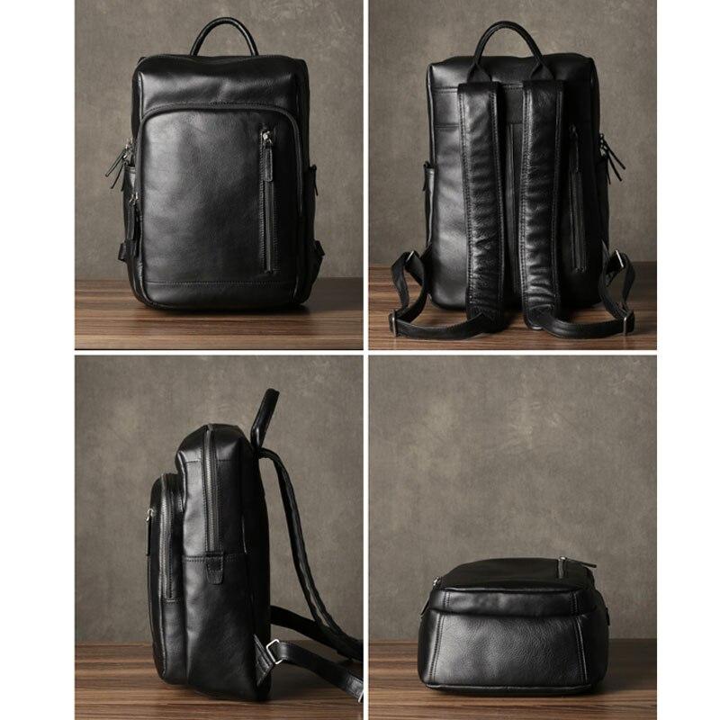 Bagaj ve Çantalar'ten Sırt Çantaları'de AETOO Deri erkek omuzdan askili çanta ilk katman deri seyahat çantası moda trendi çantası rahat iş bilgisayar çantası'da  Grup 3
