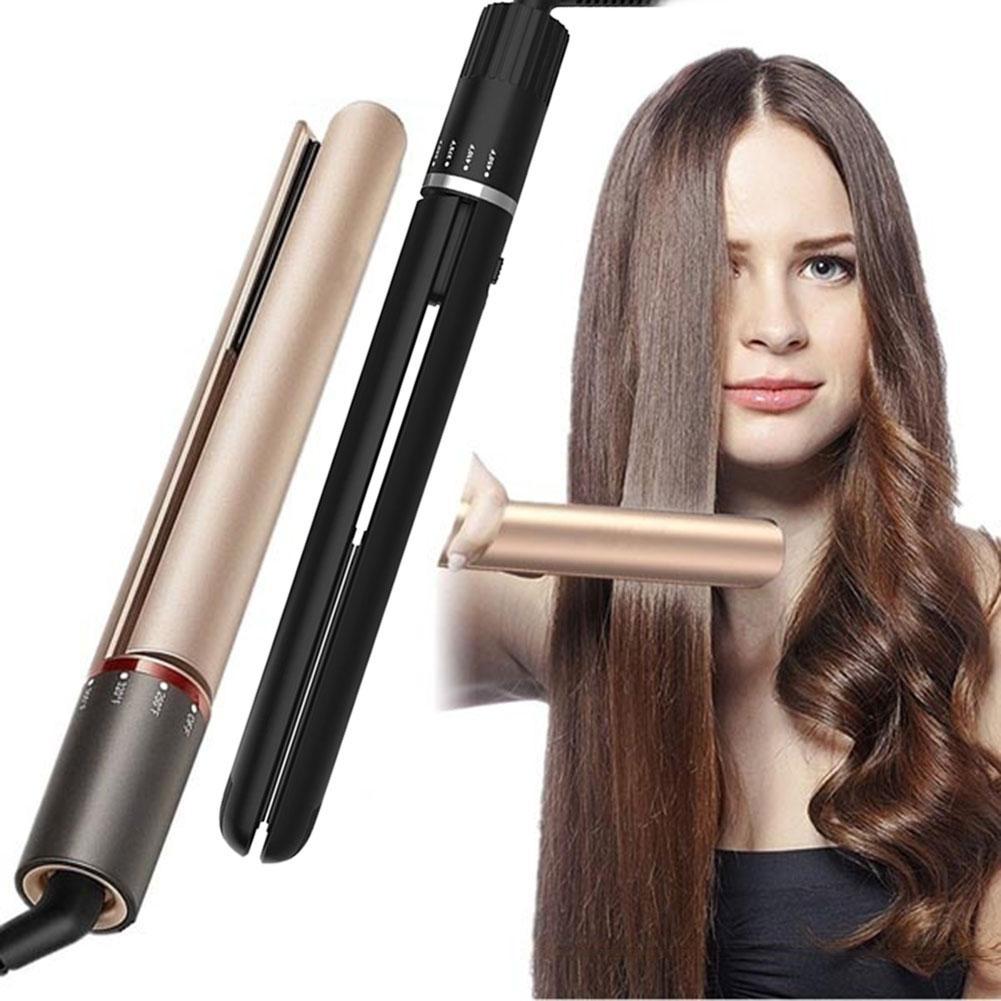 Hair Straightener Fast Heating Adjustable Tourmaline Ceramic Flat Iron Hair Straightener Curler