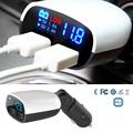 3.4A Fast Dual USB Smart Car Mobile Phone Charger LED Digital Display for iPhone 7/6s/huawei p9/p8/Meizu pro 6/m3/m3s note/mini