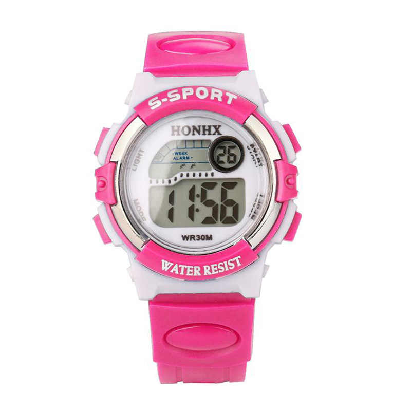 2b22f1ba4 Detail Feedback Questions about HONHX 2018 Hot Sale Waterproof Children  Watch Girls LED Digital Sports Watches Silicone Rubber Alarm Date Casual  Watch ...