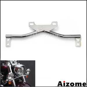 Motorcycle Steel Turn Signals Mount Bar Auxiliary Light Bracket For Honda Suzuki VT 750 1100 VTX 1300 1800 Boulevard Vulcan 500