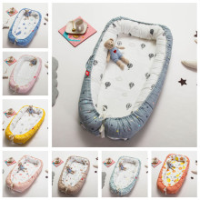 Portable Baby Nest Bed Crib Travel Newborns Cots Nursery Sleep Nest Infant Cradle Baby Bassinet Children's Bumper Crib