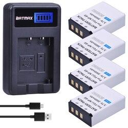 4 Stks 3.7 V NP-85 NP85 NP 85 Oplaadbare Batterijen + LCD USB Lader voor Fujifilm NP-85, BC-85, BC-85A FinePix S1, FinePix SL2