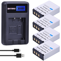 4Pcs 3.7V NP 85 NP85 NP 85 Rechargeable Batteries + LCD USB Charger for Fujifilm NP 85, BC 85, BC 85A FinePix S1, FinePix SL2