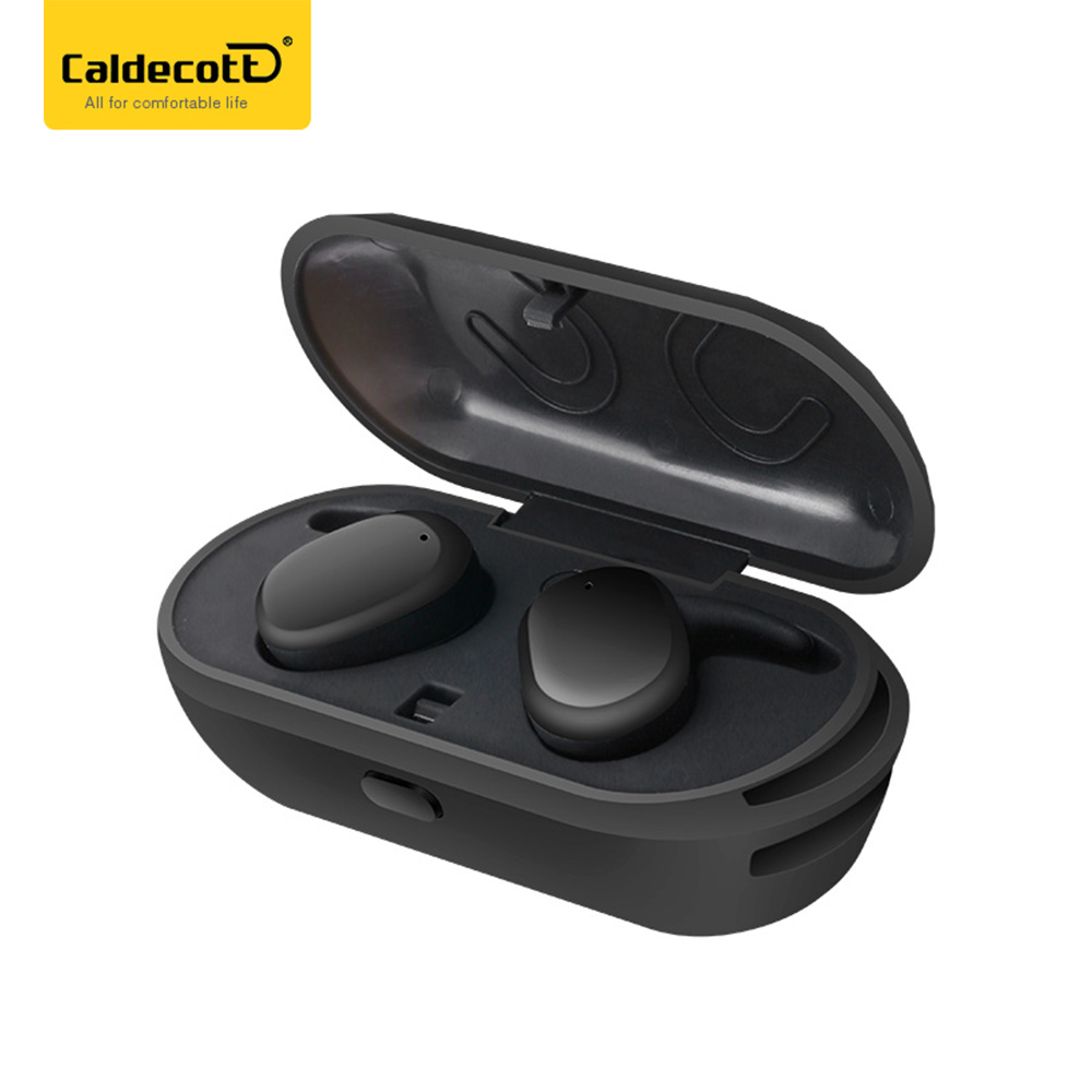 Mini Invisible TWS Wireless Bluetooth Earphones With Mic Hands-free Calls Smart Touch Sport Earbuds With Wireless Charging Box