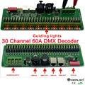 27 канала/30 канал 60A DMX декодер с RJ45 и XLR разъем DMX 512 контроллер RGB вход DC9-24V для RGB RGBW led огни