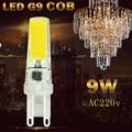 LED G9 Bulb COB 220v dimmable 9w LED lamp g9 light replace halogen spotlight for Chandelier