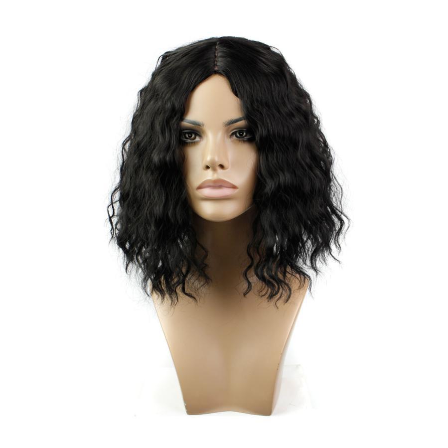 Fashion Lady Sexy Full Bangs Short Curls Hair Cosplay Party Wig 0703