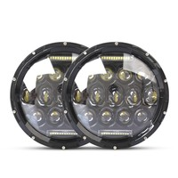180W 1600LM 3800LM High Quality 7 Inch Round Led Headlight Halo Angle Eyes Led Headlamp For