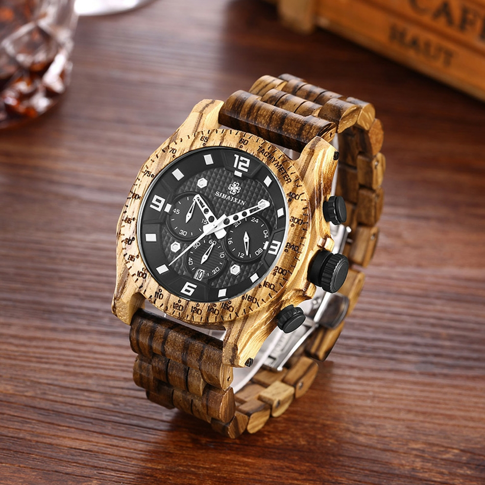 Men's Waterproof Wooden Watch (5)