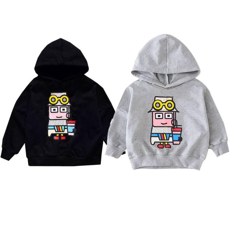 1-6 Y 2018 Kleinkind Mädchen Hoodies Winter Mode Sweatshirt Kind Mit Kapuze Lange Ärmel Kind T-shirt Kleidung