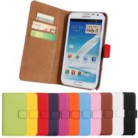 HOT Note 2 Wallet Leather Case For Samsung Galaxy Note 2 N7100 Case Magnetic Flip Cover