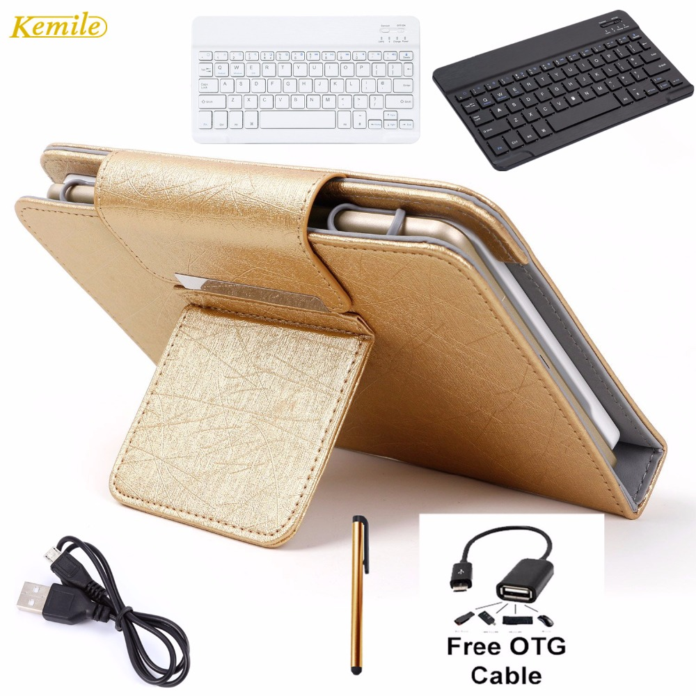 Kemile Portable Leather Case Cover Stand Wireless Bluetooth Keyboard For iPad pro 9.7& for iPad air 1 2 Tablet keypad klavye for apple ipad 5 air removable pu leather case stand cover wireless bluetooth keyboard usb cable for ipad 6 air2 pro 9 7