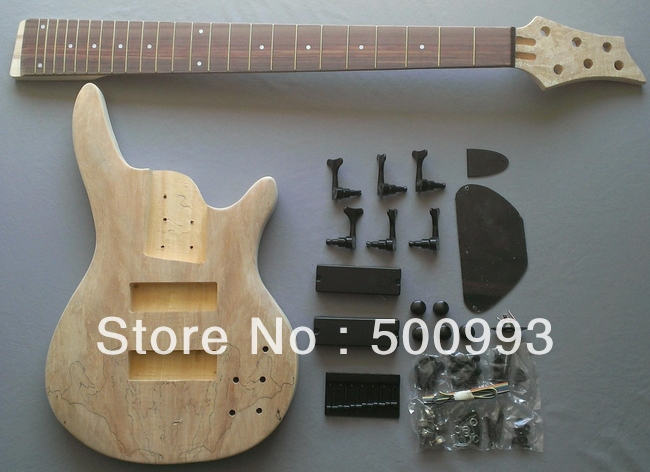 6 string body style diy unfinished project luthier bass guitar kit in guitar from sports. Black Bedroom Furniture Sets. Home Design Ideas