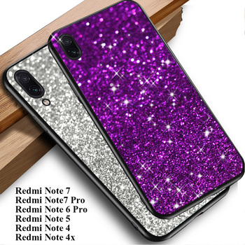 Case for Xiaomi Redmi Note 7 6 Pro 5 Plus 4x 4 S2 Y2 Global version phone cases cover on Redmi note 7 silicon TPU Glitter image