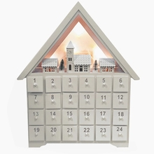 christmas  Countdown Advent Calendar 33 cm LED Lighting Battery-powered filler