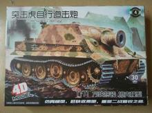 4D Assembling Model 1 71 Germany World War II Tiger Panther Sturmtiger Stype Assembled Plastic Tank