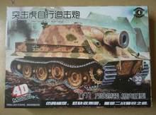 4d modelo de montagem 1:71 alemanha segunda guerra mundial tigre pantera sturmtiger stype montado tanque plástico modelo