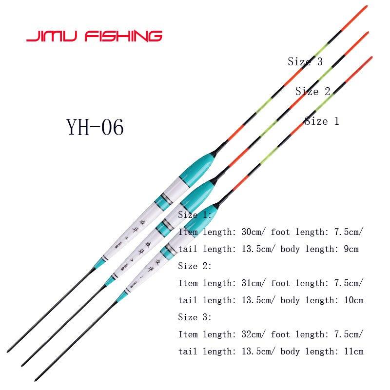 3pcs/lot Electric Fishing Floats Night Light Luminous Float Balsa Boya Fresh Water Flotador Carp Fishing Tackles Without Battery