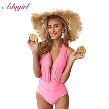 Sexy summer Swimsuit Women Swimwear One Piece Bodysuit Push Up Monokini Halter Cross Bathing Suit Swim Suist Wear Female Bikini brazil 2018 high neck sexy swimwear women one piece swimsuit cross back halter lace up swim wear bathing suits bodysuit monokini