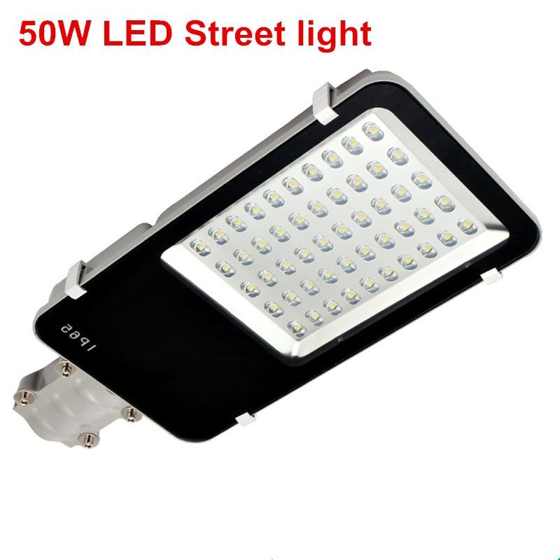 купить DHL Free shipping 50W LED Street light AC85-265V Warm White/Cold White LED Road light DC12V / DC24V LED Outdoor Street light недорого