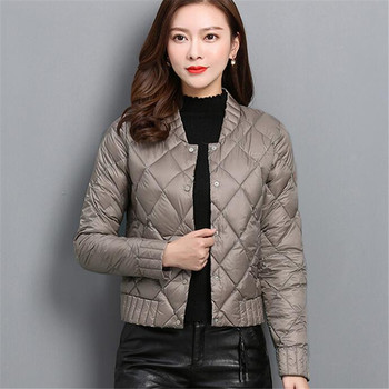 Autumn Winter Women Ultra Light Down Coat Warm White Duck Down Lightweight Parkas Outwear Female Thin Slim Short Jacket Top A757 Косуха