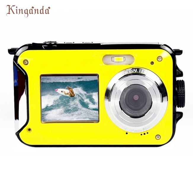 ФОТО Best Price ! W599 24MP 2.7 Inch Double Screen Waterproof Anti-shake 16X Zoom HD Camera Video Recording Under Water Camcorder ma2