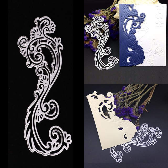 Cutting Dies Scrapbooking Embossing Craft Lace Border Metal Home Wedding Decor 13.7x6cm