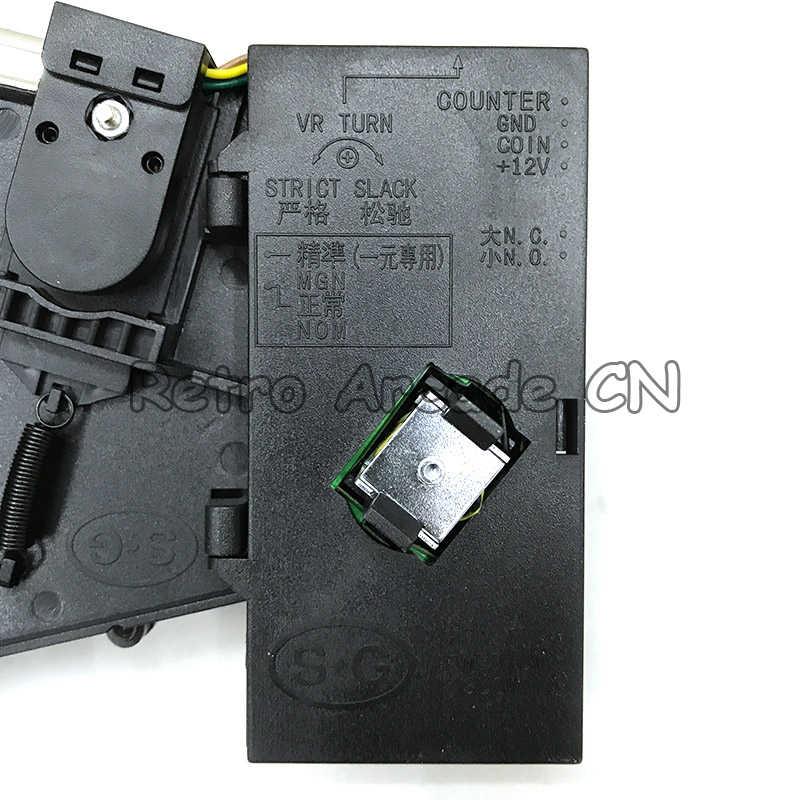 자동 판매기 아케이드 기계를위한 플라스틱 패널 고급 전면 입력 cpu 코인 셀렉터 코인 수락 자