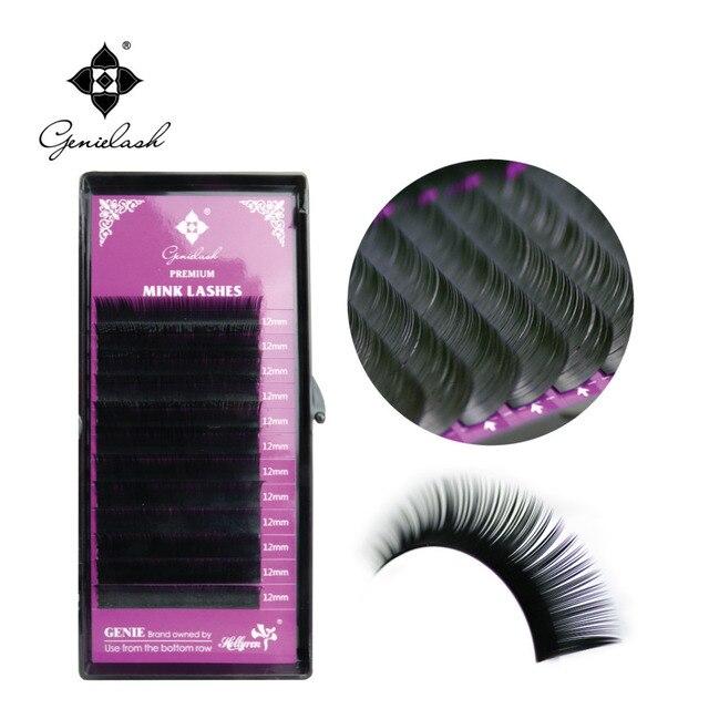 Genielash 10pcs/Lot classic individual lashes Mink Eyelash Extension Russian volume eyelashes Fake False Eyelash