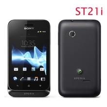 ST21 Ursprünglicher Freigesetzter Sony Ericsson Xperia tipo ST21i handy WiFi Android GPS ein jahr garantie freies verschiffen