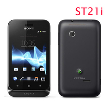 ST21 Original Unlocked Sony Ericsson Xperia tipo ST21i cell phone WiFi Android GPS one year warranty free shipping