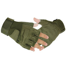 High Quality Outdoor Sports Fingerless Cycling Training Hunting Riding Wrist Wrap Game Microfiber Gloves 3 Colors M-XL
