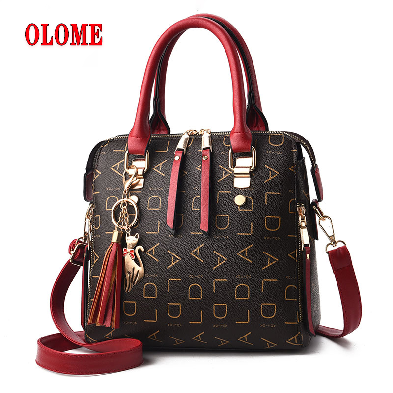 Fashionable New Style Woman Bag, PU Leather Letter Messenger Bag, One Shoulder Slanting Across The Ball Carrier Bag image