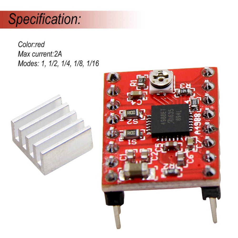 A4988 Breakout Shield Board Stappenmotor Driver Control Module Controller met Heatsink Reprap 3D Printer Onderdelen Voor Arduino