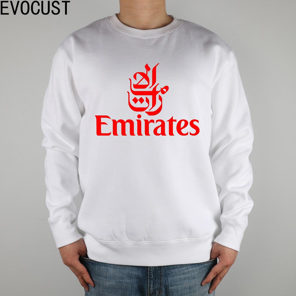 FLY EMIRATES Airlines men Sweatshirts Thick Combed Cotton